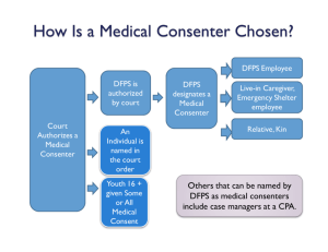 How is a Medical Consenter Chosen and Summary of Medical