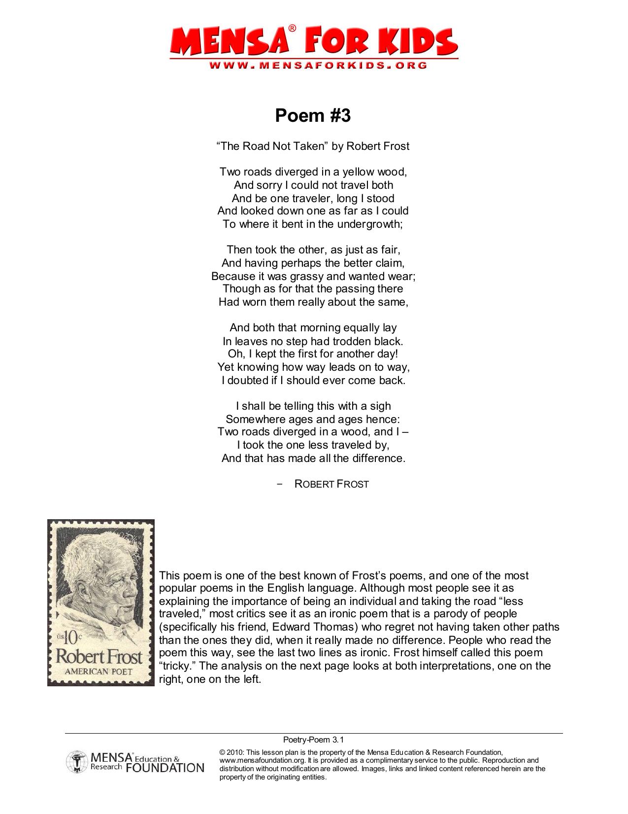 robert frost two roads poem