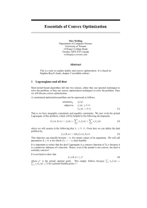 Essentials of Convex Optimization