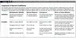 Components of Operant Conditioning