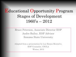 Educational Opportunity Program Stages of Development