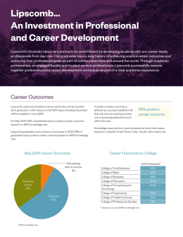 Lipscomb… An Investment in Professional and Career Development