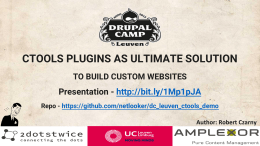 CTOOLS PLUGINS AS ULTIMATE SOLUTION