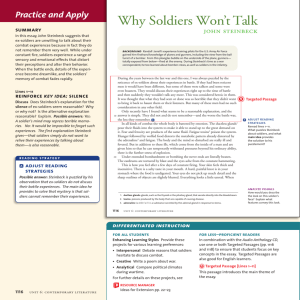 Why Soldiers Won't Talk