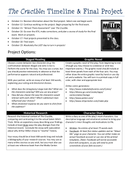 Example Of A Essay Paper The Crucible Timeline  Final Project What Is An Essay Thesis also English Essay Internet V For Vendetta Essay Topics  Cmon You Knew It Was Coming Science Essay Example