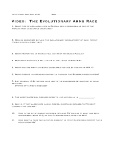 Video: The Evolutionary Arms Race