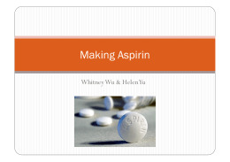 Making Aspirin - Chemical Paradigms
