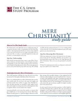 mere ChristianitY study guide The CS Lewis