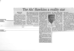 The Als Hawkins a Reality Star