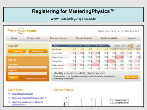 Registering for MasteringPhysics™