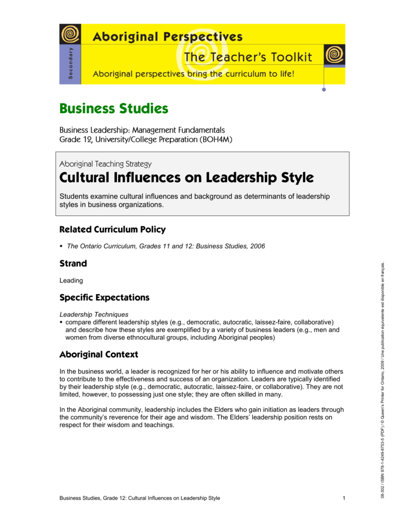 influence of national culture on leadership