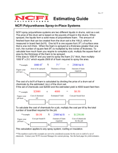 Estimating Guide for NCFI Spray-in