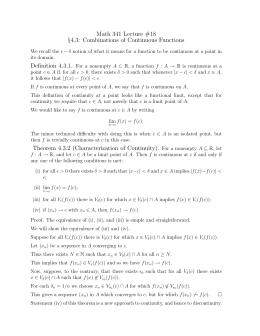 math 131c home work Several solutions