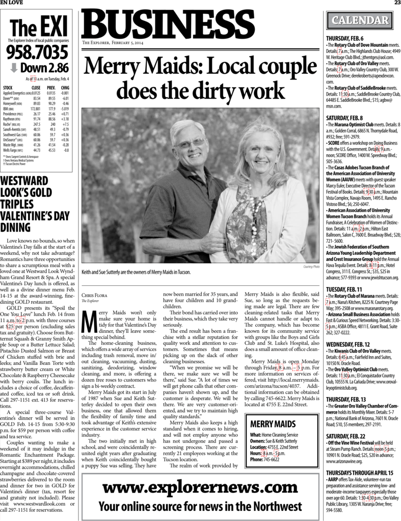 Merry Maids: Local couple does the dirty work