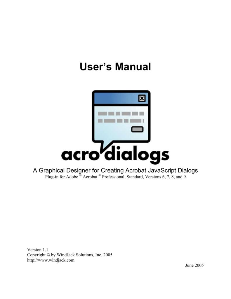 JavaScript Dialog Designer Manual