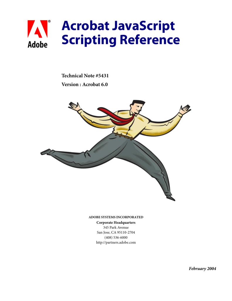 Acrobat JavaScript Scripting Reference