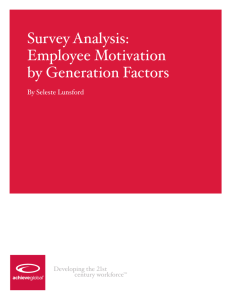 Employee Motivation by Generation Factors