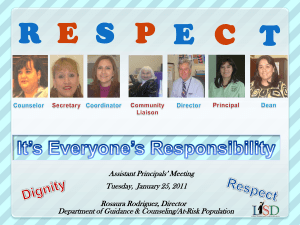District Dignity & Respect2010-2011