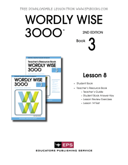 Wordly wise book 7 lesson 11 words