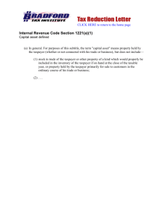 Internal Revenue Code Section 1221(a)(1)