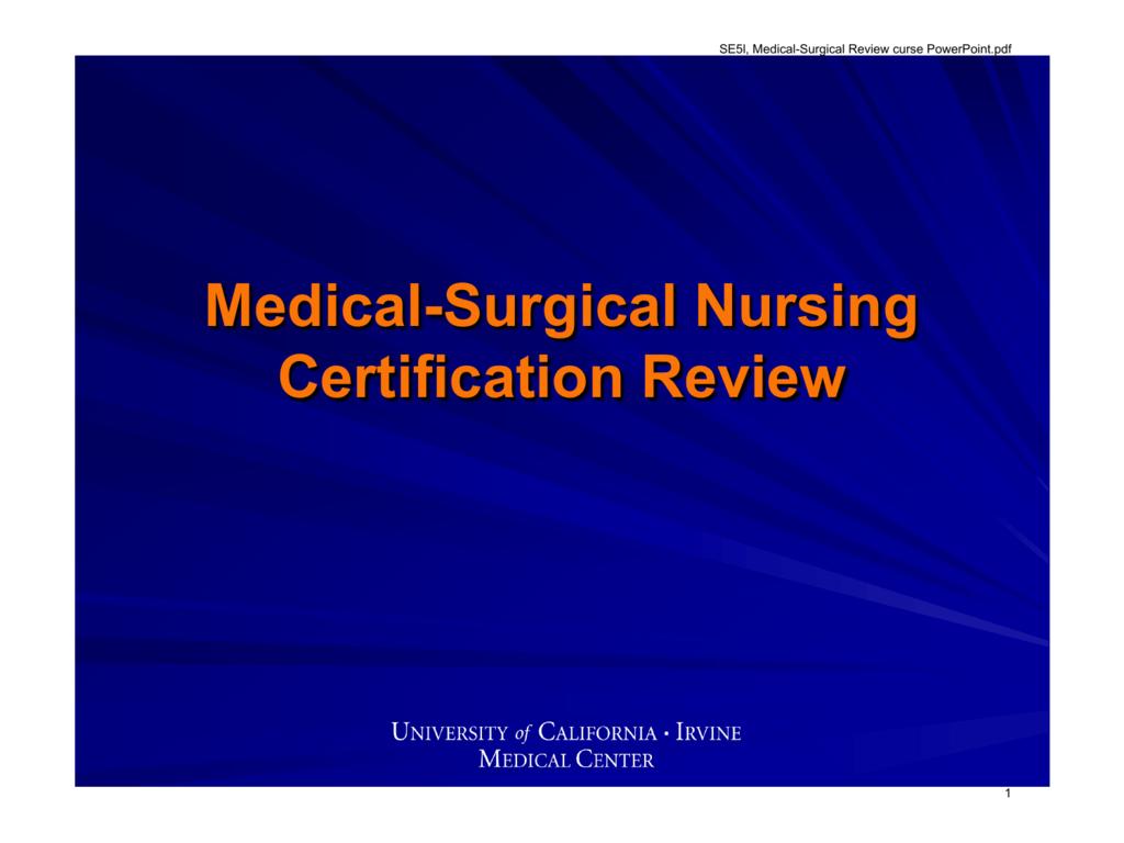 certification nursing surgical medical pedestrian guardrail standard pdf