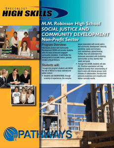 M.M. Robinson High School SOCIAL JUSTICE AND COMMUNITY