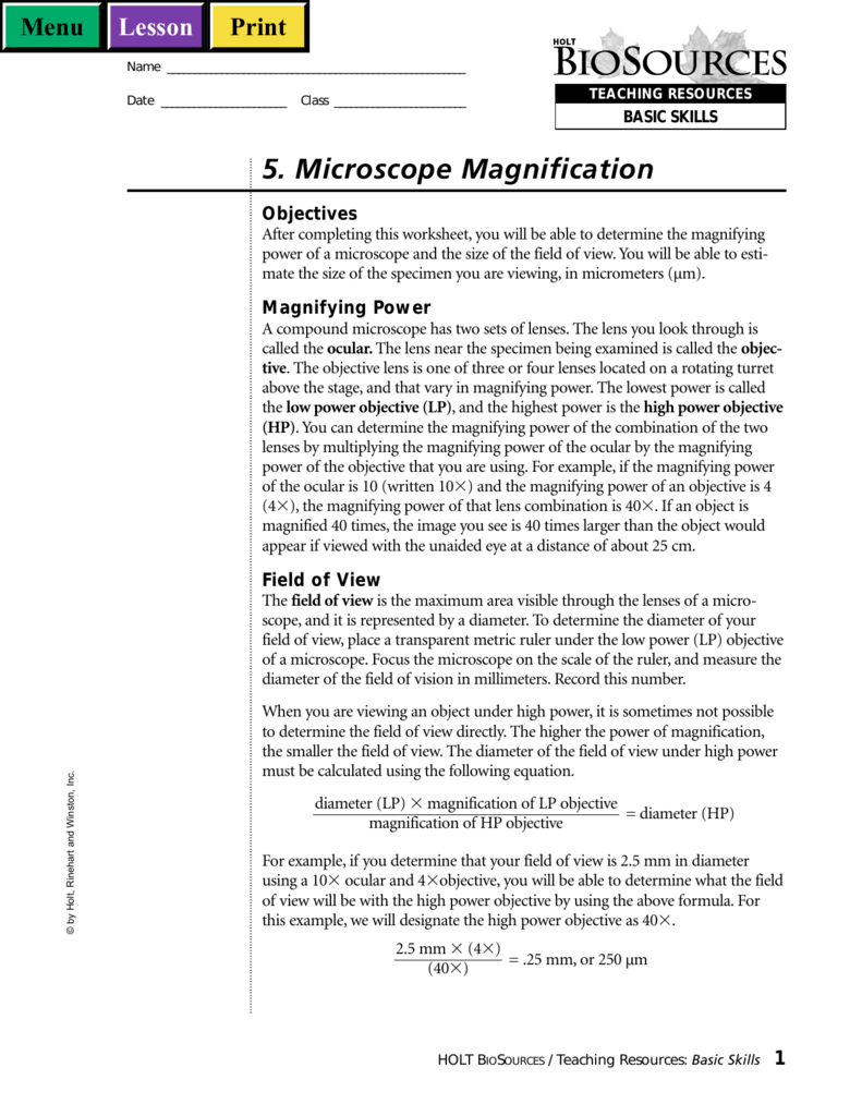 5  Microscope Magnification