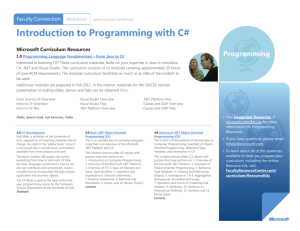 Introduction to Programming with C#