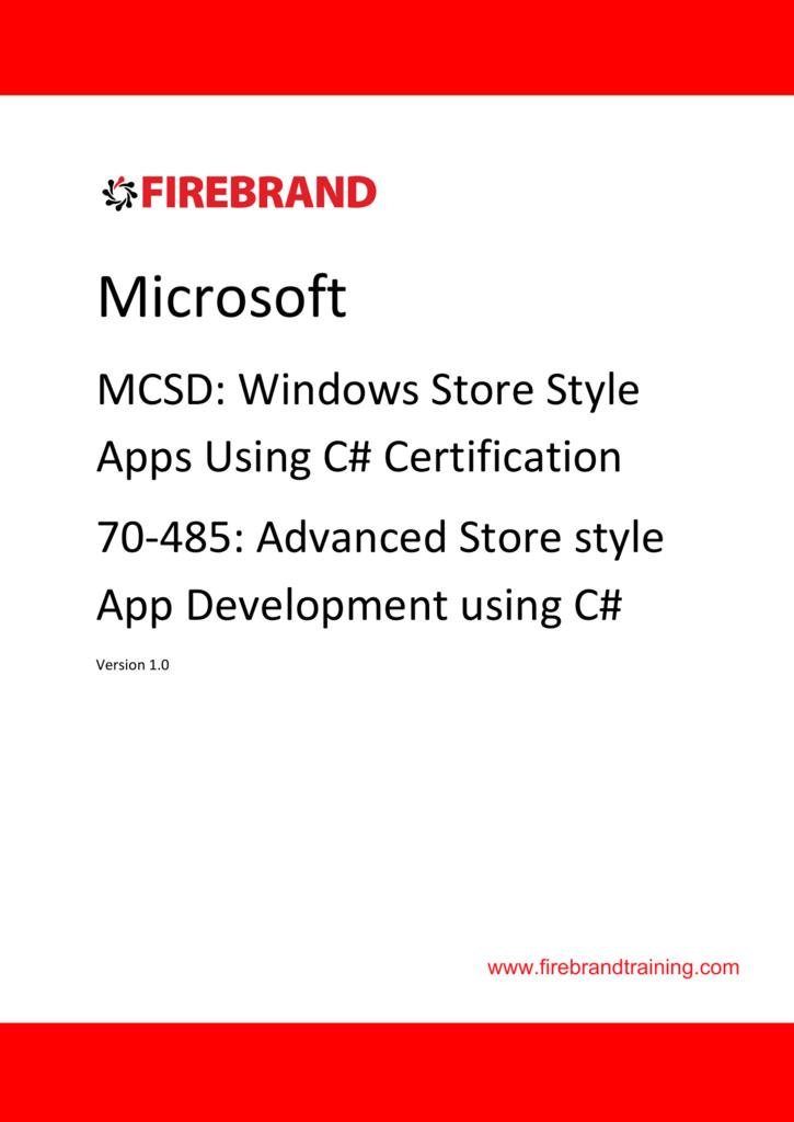 exam ref 70 484 essentials of developing windows store apps using c mcsd