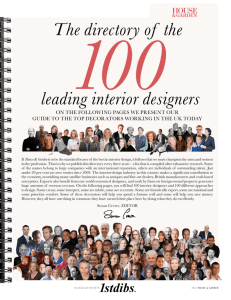 The directory of the leading interior designers
