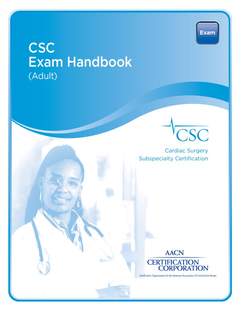 Csc Exam Handbook American Association Of Critical