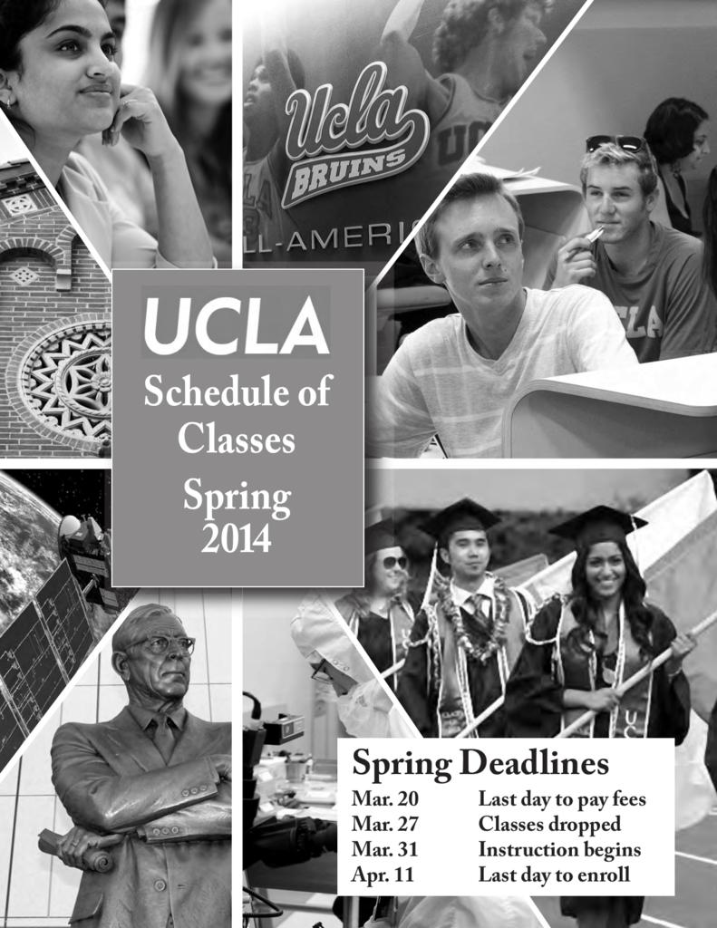 UCLA Schedule of Classes Spring Quarter 2014