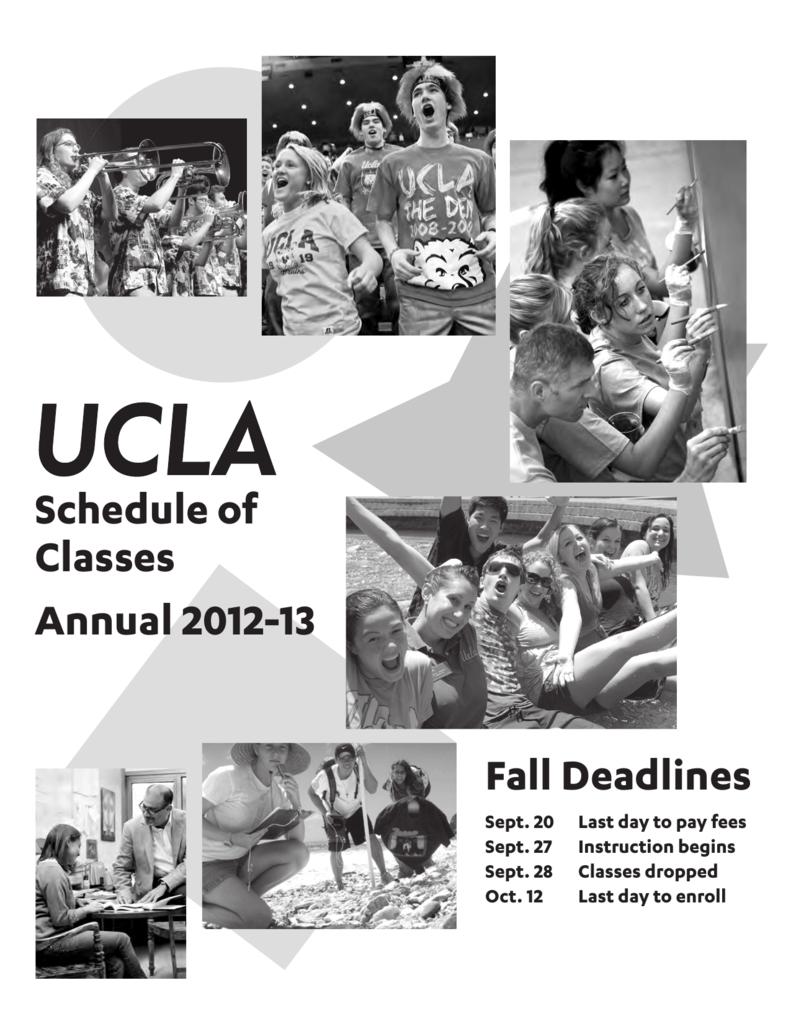 UCLA Schedule of Classes Fall 2012