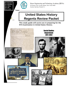 United States History Regents Review Packet