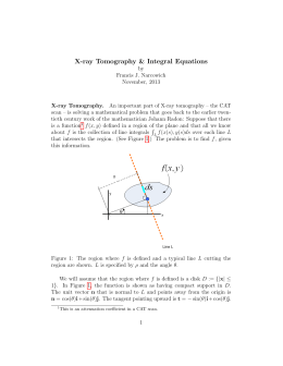 X-ray Tomography & Integral Equations
