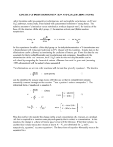 KINETICS OF DEHYDROBROMINATION AND E2/SN2 RATIOS (10
