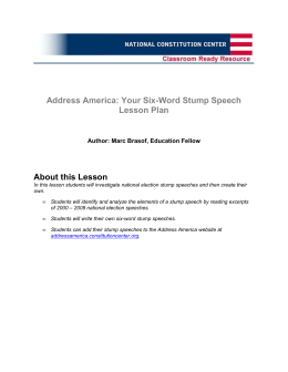 Address America: Your Six-Word Stump Speech Lesson Plan About
