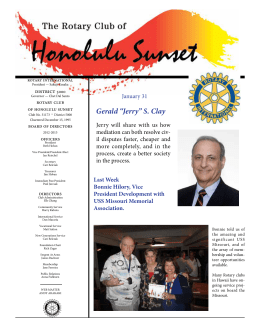 Newsletter -- January 31, 2013