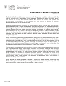 Multifactorial Health Conditions - Emory University Department of