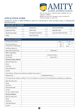 Amity Application Form, Singapore Campus (Amity Global Business