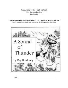 A Sound of Thunder - Woodland Hills School District