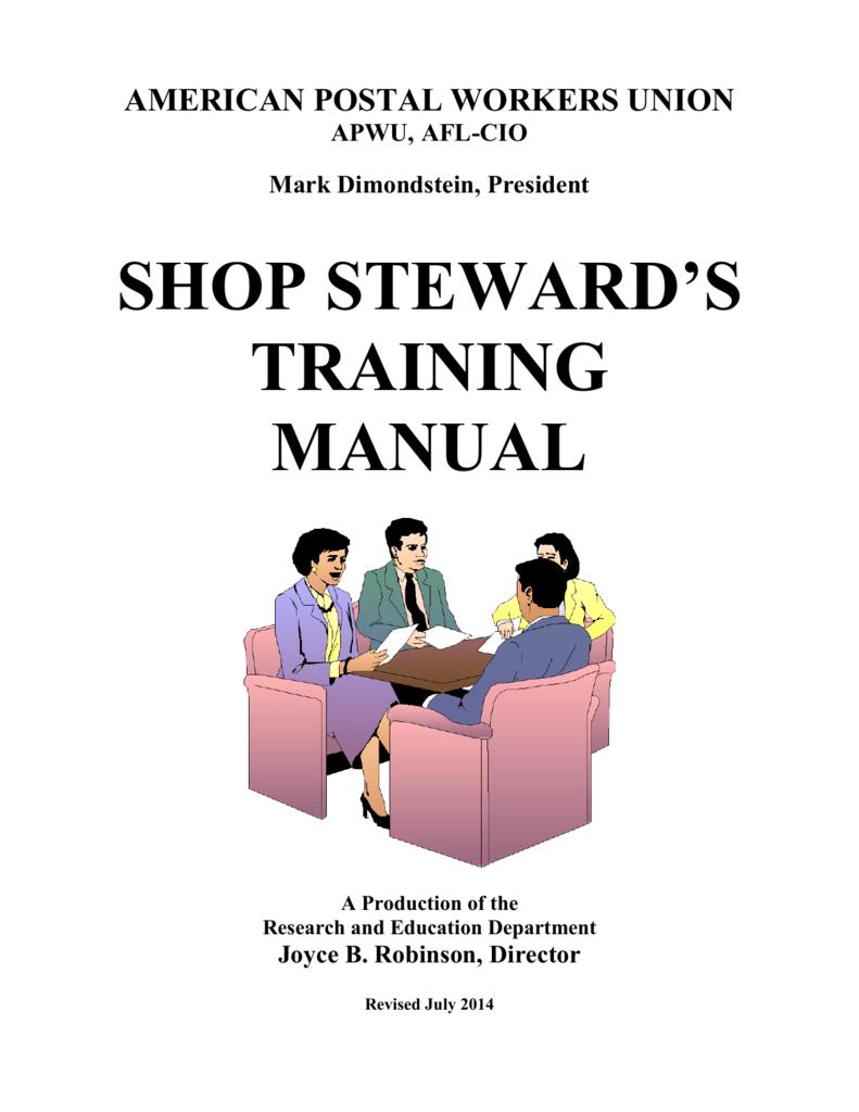 shop steward's training manual