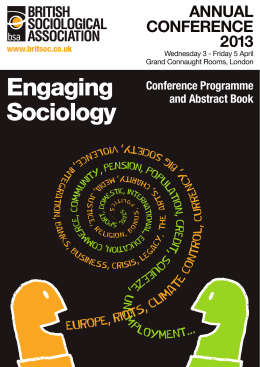Engaging Sociology - The British Sociological Association