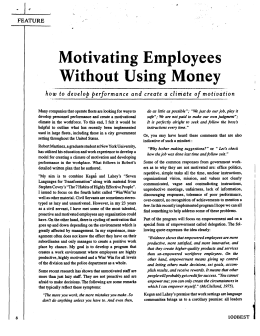 Motivating Employees Without Using Money