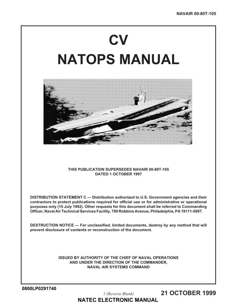 NAVAIR 00 80T 105 CV NATOPS