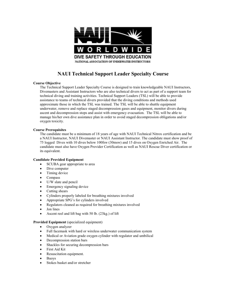 Technical Support Leader Specialty Course Outline