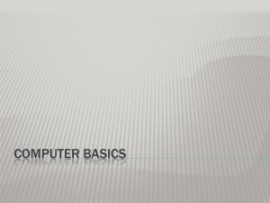 Computer Basics Overview