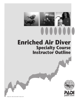 PADI Enriched Air Diver Specialty Course Instructor Outline