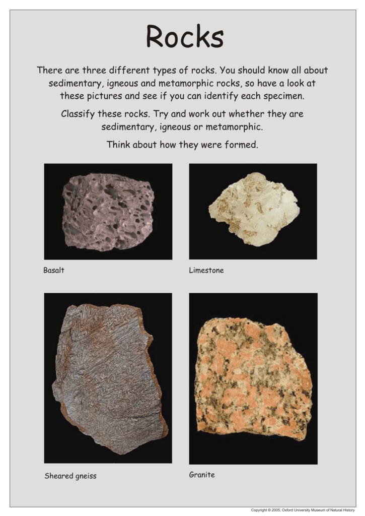 There are three different types of rocks  You should know