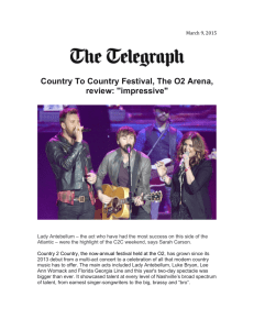 Country To Country Festival, The O2 Arena, review: ''impressive""